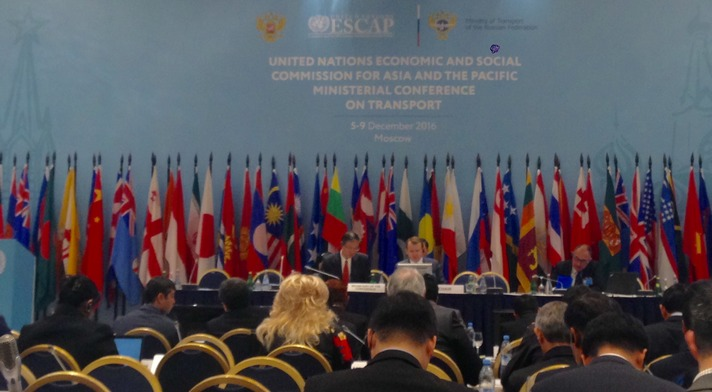 The Third session of the Ministerial Conference on Transport of ESCAP took place in Moscow