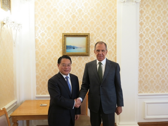 DG, Li Yong and H.E. Mr. Sergey Lavrov, Minister of Foreign Affairs of the Russian Federation