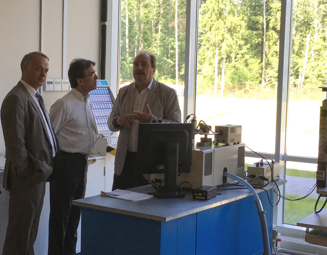 "Visit to the ""Svyaz engineering KB"" plant at SEZ ""Dubna"""